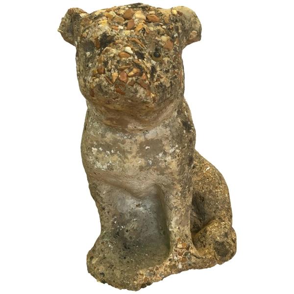 Vintage Cast Stone Pug