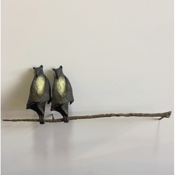 Bat Pair on Branch