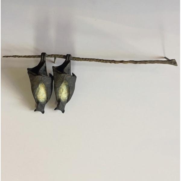 Bat Pair on Branch