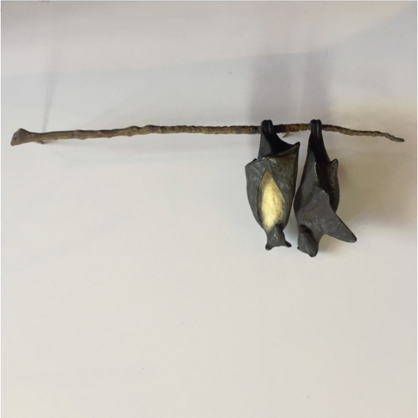 Bat Pair on Branch (two different bats)