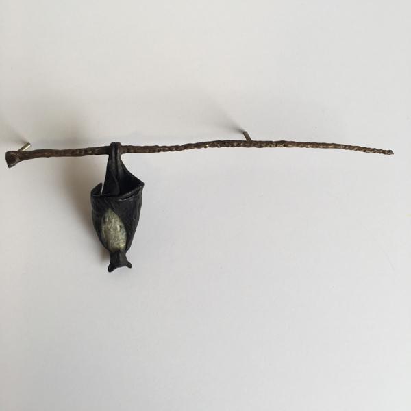 Single Bat on Branch (Left)