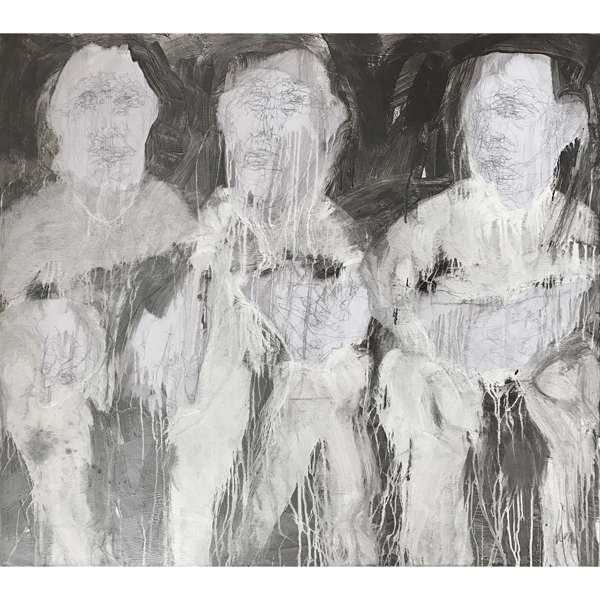 Line Silver Series: Three Seated