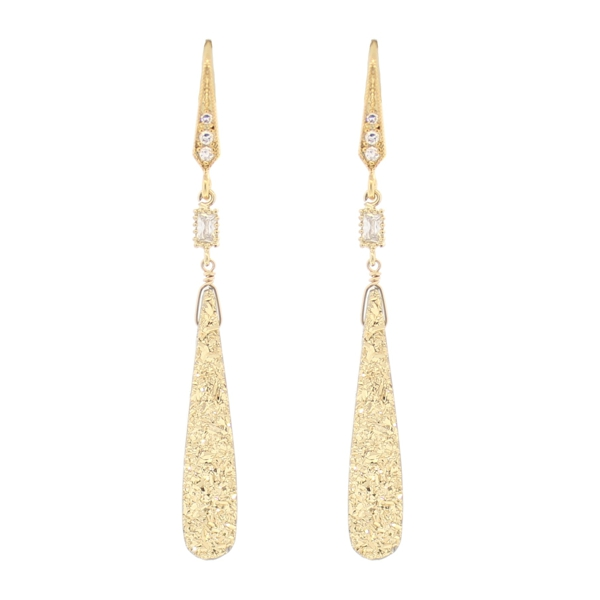 24k Gold Plated Brazilian Druzy Earrings