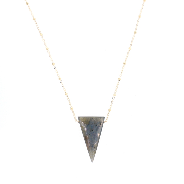 Large Labradorite Triangle Necklace