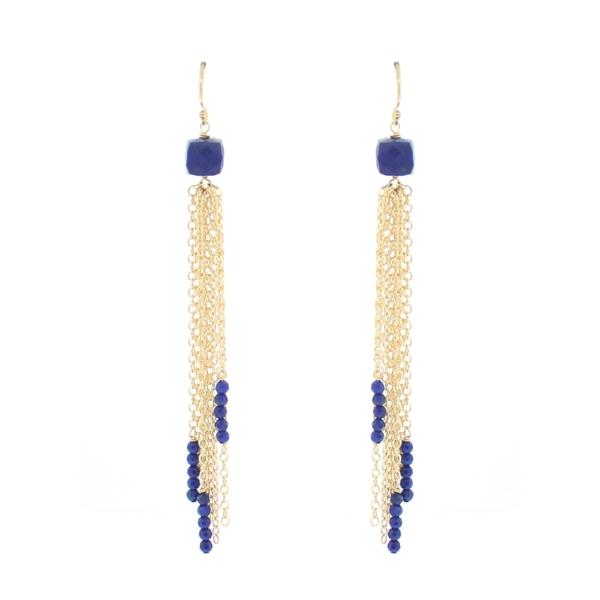 Lapis Tassel Earrings