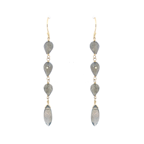 Labradorite Multi Drop Earrings, 14K Gold Fill