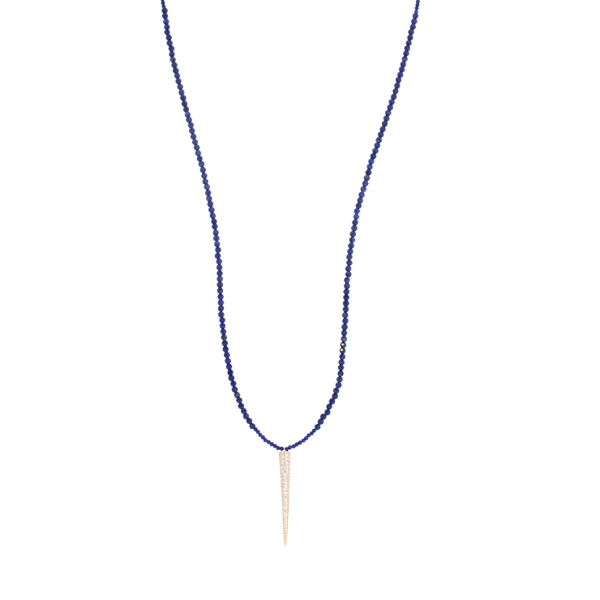 Lapiz CZ Spike Necklace