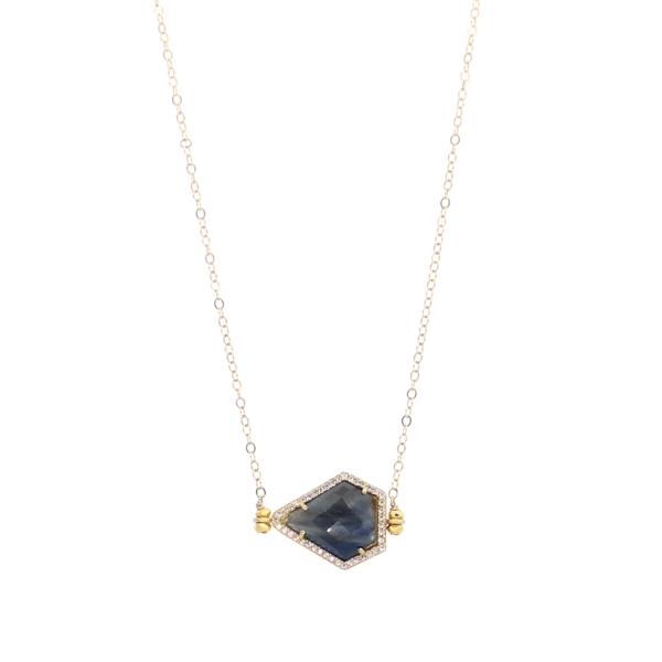 Sapphire and CZ Necklace