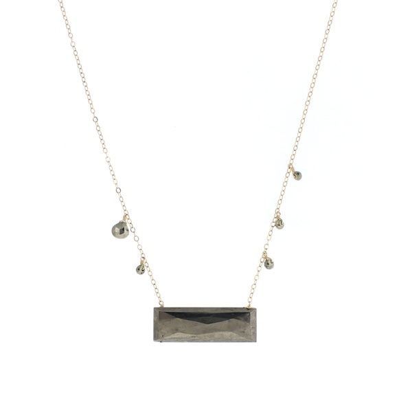 Large Pyrite Bar Necklace