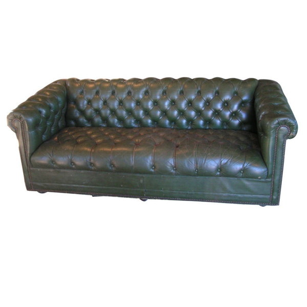 Green Tufted Chesterfield Sofa