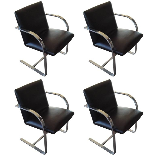 "Set of 4 Vintage Mies van der Rohe ""Brno"" Chairs"