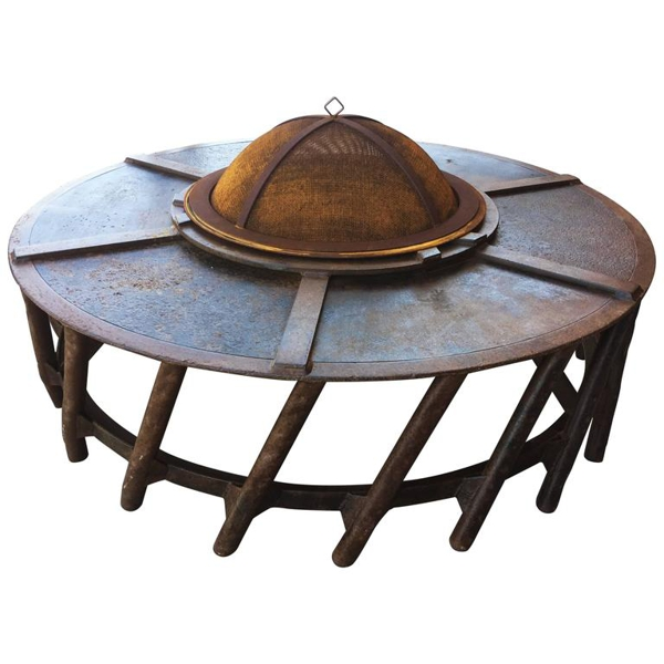 Vintage Flywheel Fire Pit