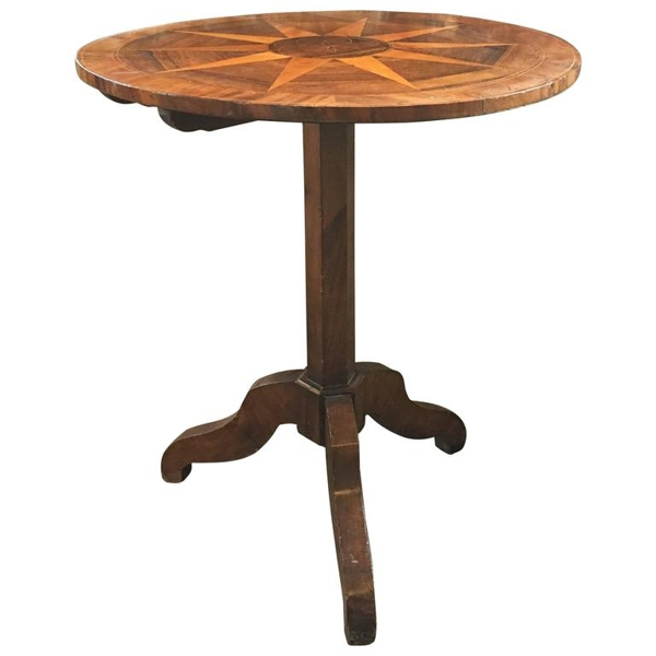 Marquetry Side Table, circa 19th Century