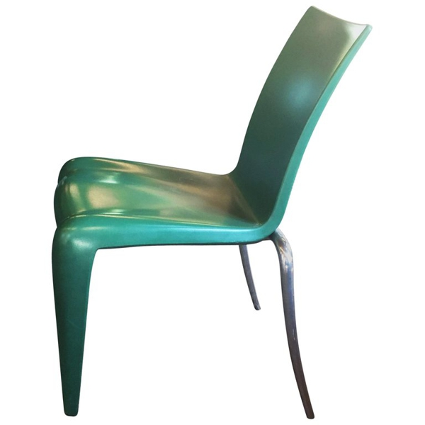 """Set of Six Green Philippe Stark """"Louis 20"""" Chairs"""