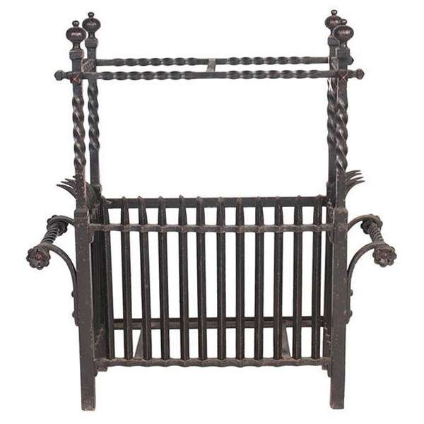 French Wrought Iron Umbrella Stand, c.1900