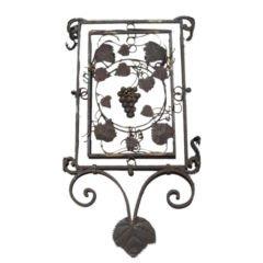 Vintage Lantern Panel with Grapevine Detail, France, c. 20th Century
