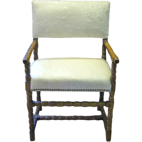 Hide Upholstered Chair