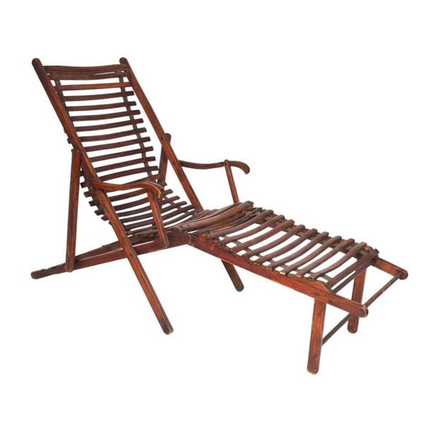 Vintage Slatted Deck Chair