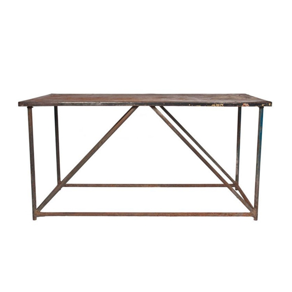 Vintage Metal Console Table, c. 1930's