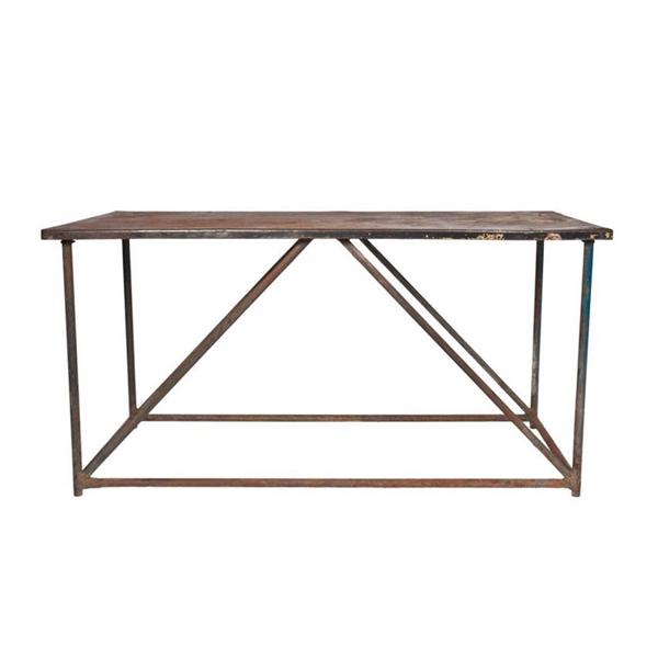 Vintage Metal Console Table, c. 1930's