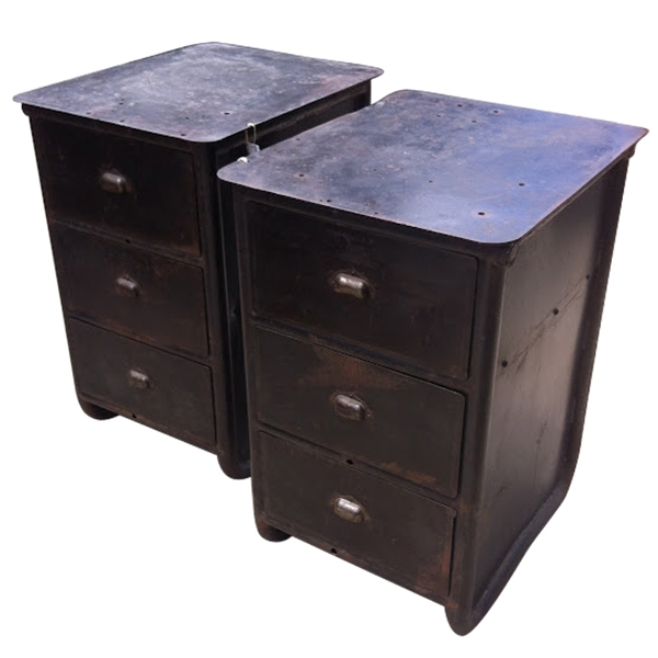 Pair of Vintage Steel Drawers, c. 19th Century