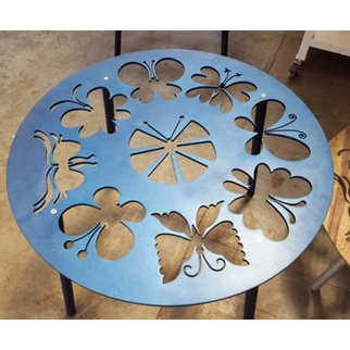 Butterfly Table Top - Blue