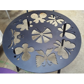 Butterfly Table Top - Dark Blue