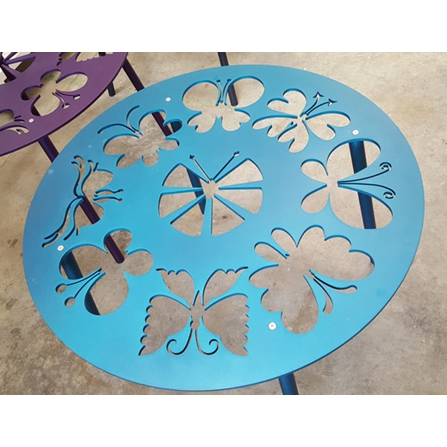 Butterfly Table Top - Turquoise