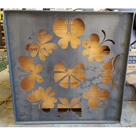 Butterfly Square Gate Panel - In Process
