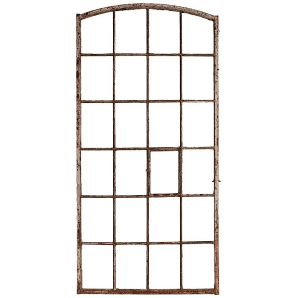Vintage Painted Metal Window Frame, France, circa 19th Century