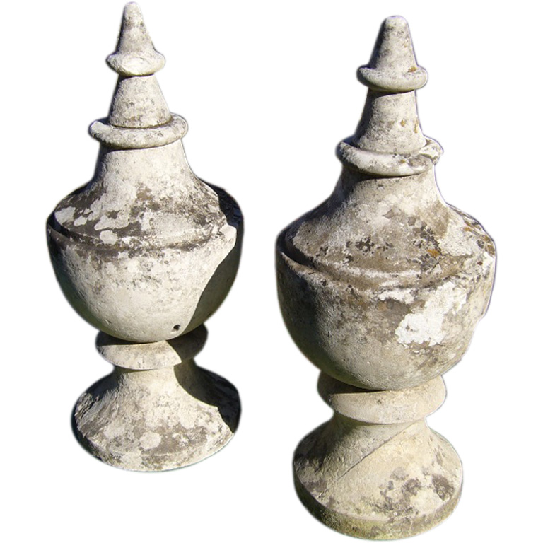 18th Century French Stone Finials RENA Galleries Gardens