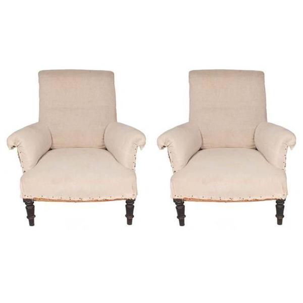 Pair of Napoleon III Chairs, c. 1870's