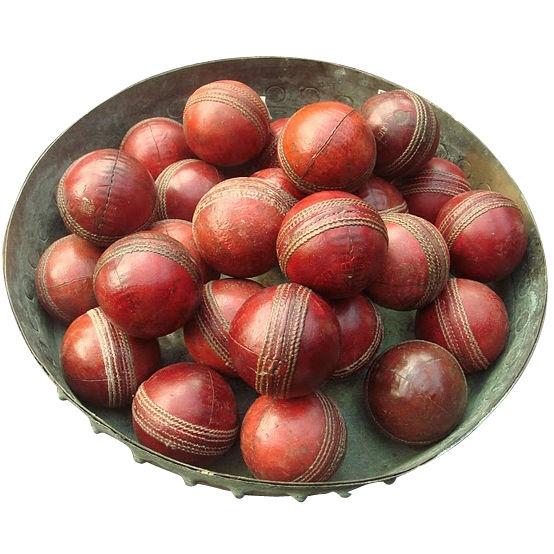 "Vintage 3"" Red Leather Cricket Balls, United Kingdom, 1950s"