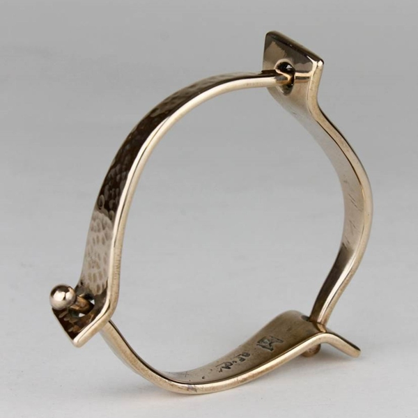 "Bangle #16 ""Love Triangle"" - Bronze"