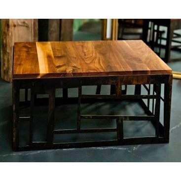 Kamal Khan Steel & Oak Coffee Table