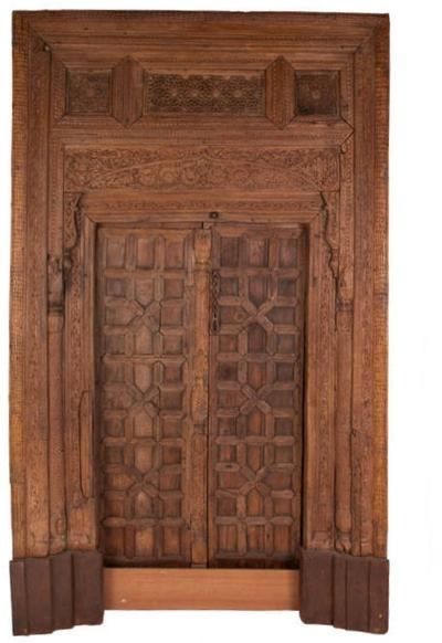 Carved Antique Door, Pakistan, 17th Century