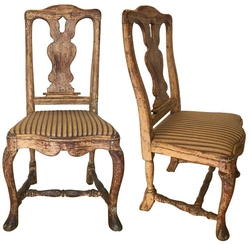 Pair of 18th Century Rococo Chairs