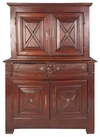 Antique Walnut Bahut Deux Corps Armoire, France, circa Mid-18th Century