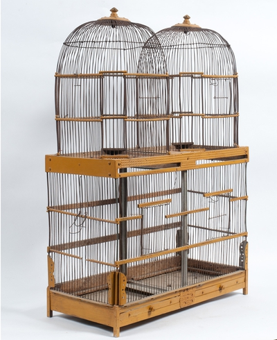 Vintage Yellow Birdcage, c. 19th Century