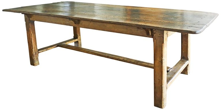Vintage Oak Farm Table, circa 18th Century
