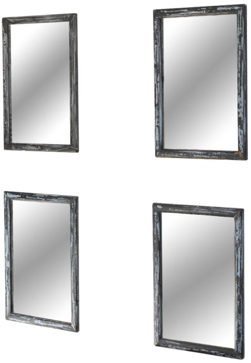 Set of Four Vintage Mirrors, Belgium c. 19th Century