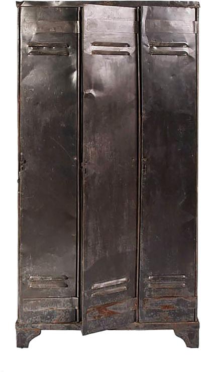 Vintage Strafor Three-Door Metal Locker, circa 1975