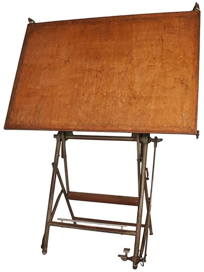 Vintage Architect Drafting Table, circa 1940