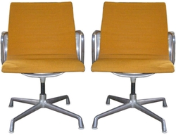 Set of Two Aluminum Chairs by Charles and Ray Eames