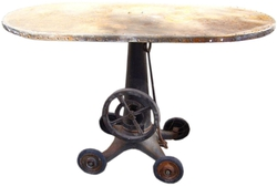 Oval Riveted Iron Table