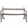 Vintage Iron and Wood Bench
