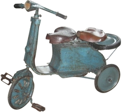 Vintage Two Seated Tricycle, Belgium c. 1940