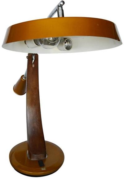 Vintage Mid-Century Fase, Madrid Presidente Lamp, circa 1960