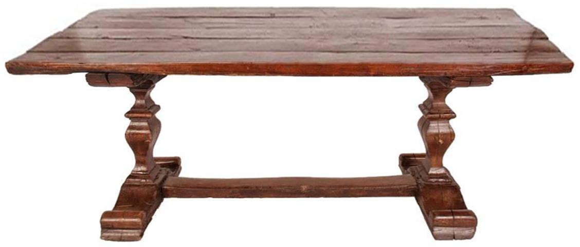 Walnut Trestle Table