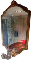 19th Century Hand-Painted Venetian Gilt Mirror
